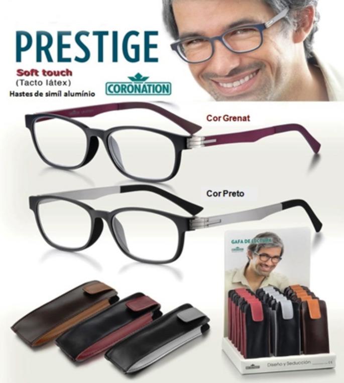 bcaf0e33b Modelo: Prestige. Óculos de Leitura. Marca: Coronation Modelo: Reverso